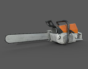 3D asset Chainsaw - Lowpoly - PBR - Animated