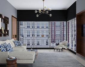 chair set 3D Living room