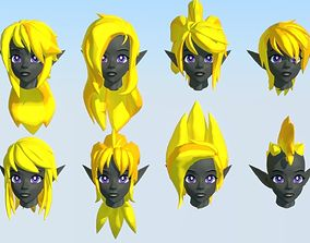 Acheron Hair Styles 03 3D asset