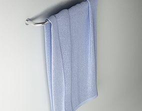 Towel 06 blue 3D model