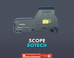 Weapon - Scope - 04 - EoTech 3D model game-ready