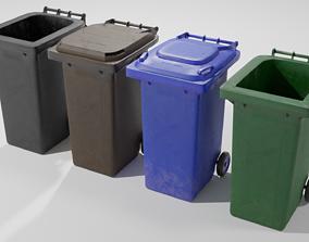 Wheelie bins 3D asset