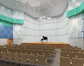 Modern Simple Concert Hall 3D asset
