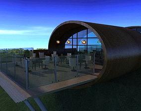 3D model Hill restaurant