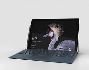 3D Microsoft Surface Pro 2017 Cobalt Blue