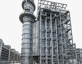 Gas Turbine Plant - Full Set 3D asset