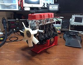 3D printable model Toyota 4 cylinder engine 22RE