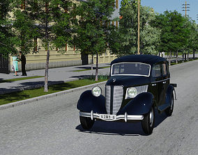 Car game Gaz M1 3D asset