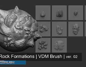 3D 10 Arid Rock Formations 02 - Zbrush VDM Brush