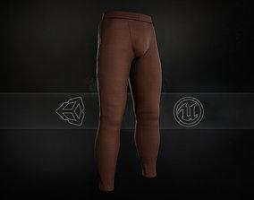 3D asset Brown Skinny Medieval Pants