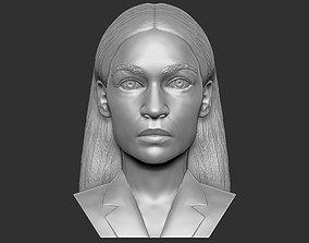 Alexandria Ocasio-Cortez bust 3D printing ready stl obj