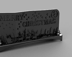 Christmas and New Year installation 3D printable model 7