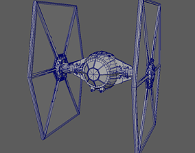 3D print model TIE fighter space