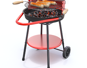 3D model grilling Barbecue grill