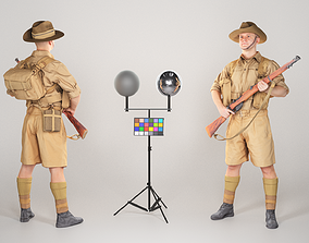 Australian infantryman character from World War 2 3D model