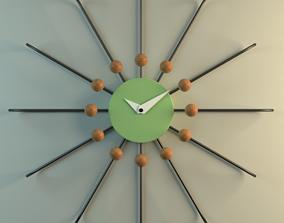 sunburst clock 3D other