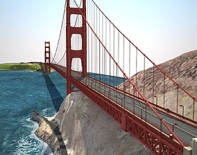 suspension Golden Gate Bridge 3D