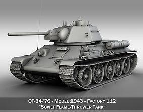 OT-34-76 - Model 1943 - Soviet Flame-Thrower Tank