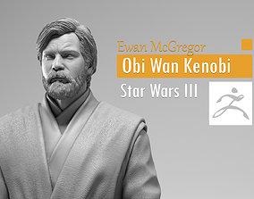 Ewan McGregor - Obi Wan Kenobi - Star 3D printable model 4