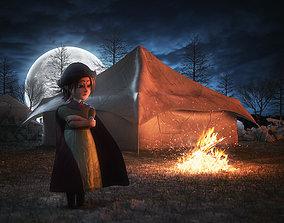 3D model Camping