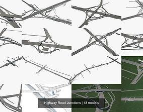 3D model Highway Road Junctions