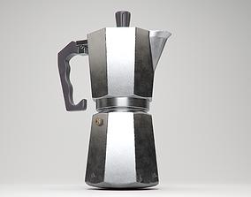 Stove-top Espresso Maker 3D