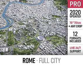 Rome - city and surroundings 3D model