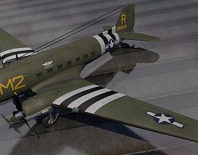 3D Douglas C-53 Skytrooper