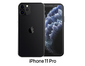 3D model Apple iPhone 11 Pro Space Gray