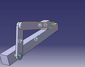 3D Slider Crank Mechanism Using CATIA V5