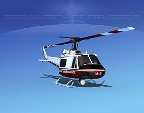 Bell 204 Alaska Air Ambulance 3D model
