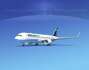 3D model Boeing 767-300 WestJet