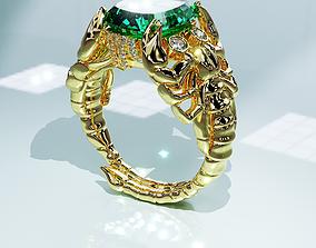 diamond ring Scorpio 3D printable model