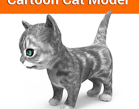 3D Cartoon cute cat VR / AR ready