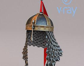 PBR Medieval helmet 4 3d model