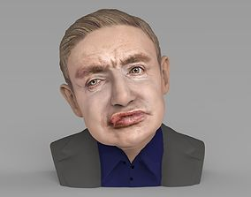 Stephen Hawking bust ready for full color 3D printing