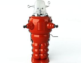 3D Red Toy Robot