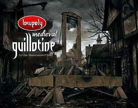 Medieval French Guillotine 3D model