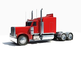 Red Classic Truck 3D