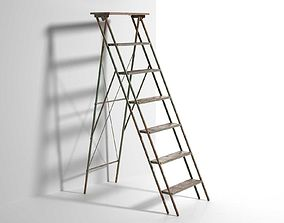 3D Vintage Step Ladder