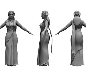 people india woman 3d model