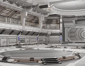 Sci-fi Scene for renders- Quantum 3D model