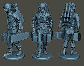 3D print model German soldier ww2 carrying rockets G4