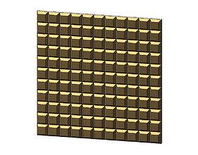 Chocolat squares pattern 3d panel