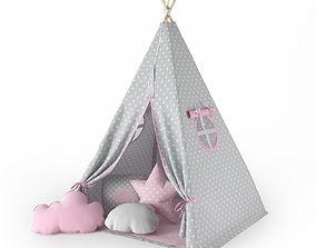 Childrens tent wigwam 3D model
