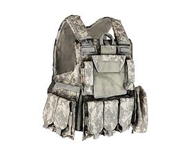 3D model Military Body armor of ACU 20