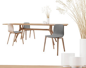 Nil Table and Aava Chair Set 3D model