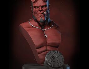 3D printable model Hellboy bust miniature