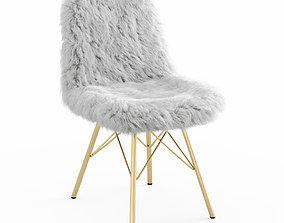 Fur White Chair 3D model