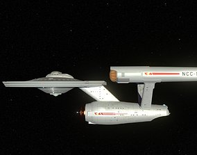 Constitution Class Starship 3D
